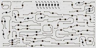 Vector circuit board illustration. Vector circuit board background. Abstract flat circuit board illustration vector illustration