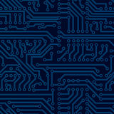 Vector circuit board seamless pattern. Pcb background royalty free illustration