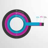 Vector circular element infographic template to design a website . Royalty Free Stock Photography