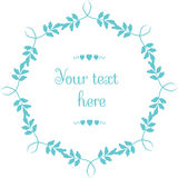 Vector circular floral wreaths  Stock Images