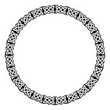 Circular Celtic ornament. Vector circular frame. Celtic national ornament interlaced ribbon isolated on white background stock illustration