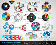 Vector Circular Infographics BIG collection for your graphs Stock Photo