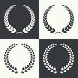 Vector circular laurel wreath Stock Photos