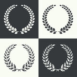 Vector circular laurel wreath Royalty Free Stock Photography