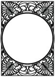 Vector modern ornament. Vector circular ornament in modern style. Black drawing on white background stock illustration