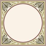 Vector modern ornament. Vector circular ornament in modern style. Drawing isolated on beige background vector illustration