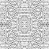 Vector circular pattern in grunge style. Lined pattern. Hipsters, boho, rustic Royalty Free Stock Image