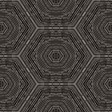 Vector circular pattern in grunge style. Lined pattern. Hipsters, boho, rustic Royalty Free Stock Images