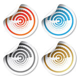 Vector circular stickers with curled corner Royalty Free Stock Photography