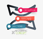 Vector circulation arrows infographic concept Royalty Free Stock Photos