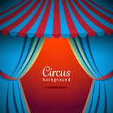 Vector circus background with open tent royalty free illustration