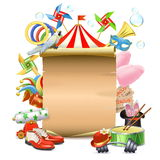 Vector Circus Concept with Poster Royalty Free Stock Photo