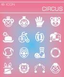 Vector Circus icon set Royalty Free Stock Image