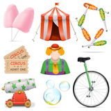 Vector Circus Icons Stock Photo