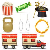 Vector Circus Icons Set 2 Royalty Free Stock Images