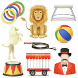 Vector Circus Icons Set 3 Stock Photo