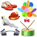 Vector Circus Icons Set 4 Royalty Free Stock Photo