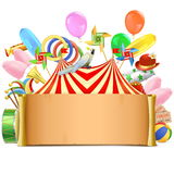 Vector Circus Paper Scroll Royalty Free Stock Photography