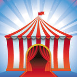 Vector circus tent - bright icon Royalty Free Stock Images
