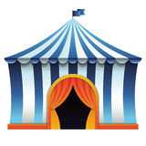 Vector circus tent - bright icon Royalty Free Stock Image