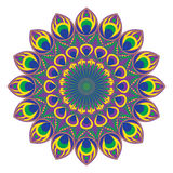 Vector cirkelpatroon of mandala Royalty-vrije Stock Foto