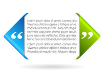 Text citation. Vector citation symbol, add your text Royalty Free Stock Images