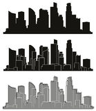 Vector cities silhouettes. Stock Photo