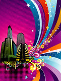 Vector city background illustration Royalty Free Stock Photography