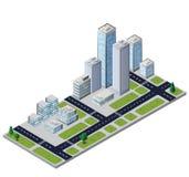 Vector city block Stock Photos