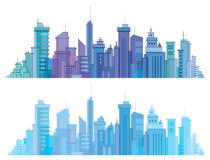 Vector city buildings. Stock Image