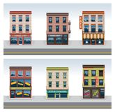 Vector City Buildings Icon Set Royalty Free Stock Image