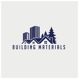 Vector city buildings icons. Design can be used to  a logo, mascot, icon, T-shirt and poster design Royalty Free Stock Images