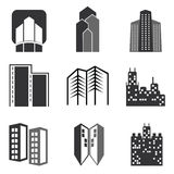Vector city buildings set Stock Photo