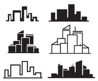 Vector city buildings. Stock Photography