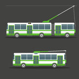 Vector city electric trolleybus Royalty Free Stock Photos
