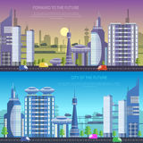 Vector city of the future Royalty Free Stock Image