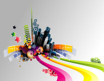Vector city illustration Royalty Free Stock Image