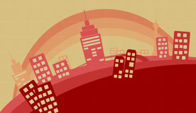 Vector City Illustration Stock Images