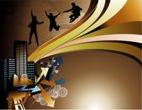 Vector city illustration Stock Photography