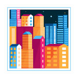 Vector city illustration Royalty Free Stock Images