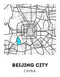 Vector city map of Beijing city with well organized separated layers. Vector illustration royalty free illustration