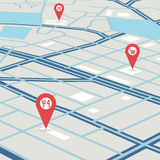 Vector city map Royalty Free Stock Images