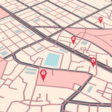 Vector city map Royalty Free Stock Photos