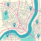 Vector city map Stock Images