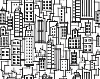 Vector city  seamless pattern. Stock Images