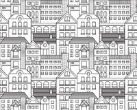 Vector city seamless pattern Royalty Free Stock Photography