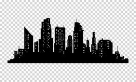 Vector city silhouette Stock Images