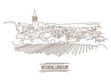 Vector city sketching Stock Photos