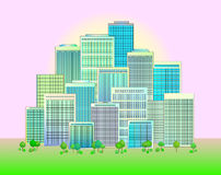 Vector of city skyline Stock Images