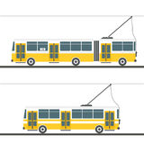 Vector city trolleybus collection Stock Photo